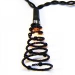 Гирлянда 1,35м черная Спираль кабель черный 1,5м 10 ламп indoor
