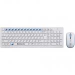 Клавиатура Defender Skyline 895 Nano, White, USB + мышь