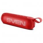 Портативная акустика SVEN PS-75, красный, акустическая система 2.0, мощность 2x3 Вт (RMS), Bluetooth, FM, USB, microSD /