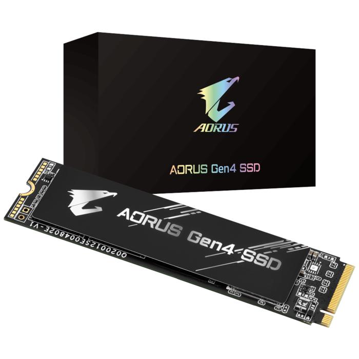 Твердотельный накопитель 1000Gb SSD Gigabyte AORUS M.2 2280 PCIe R5000Mb/s W4400MB/s GP-AG41TB