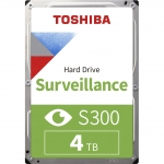 """Жесткий диск для Видеонаблюдения HDD 4Tb TOSHIBA S300 Surveillance 5400rpm 128Mb SATA3 3,5"""" HDWT840UZSVA, MTBF 1млн, часов, Для систем видеонаблюдения!"""